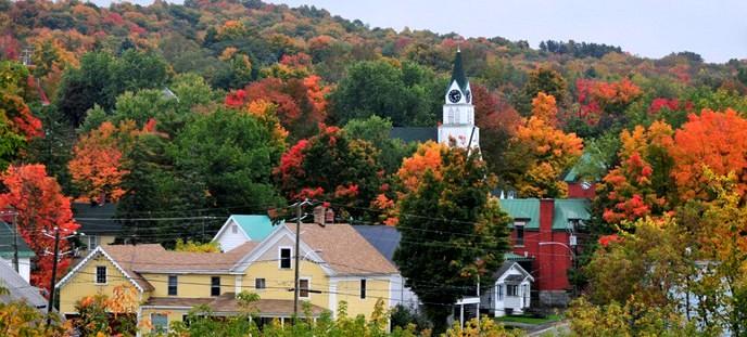 Stanstead ville automne adj