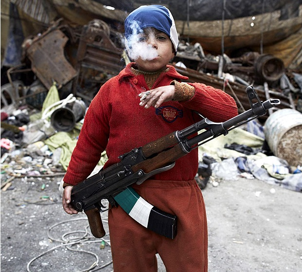 Seven-year-old Syrian rebel