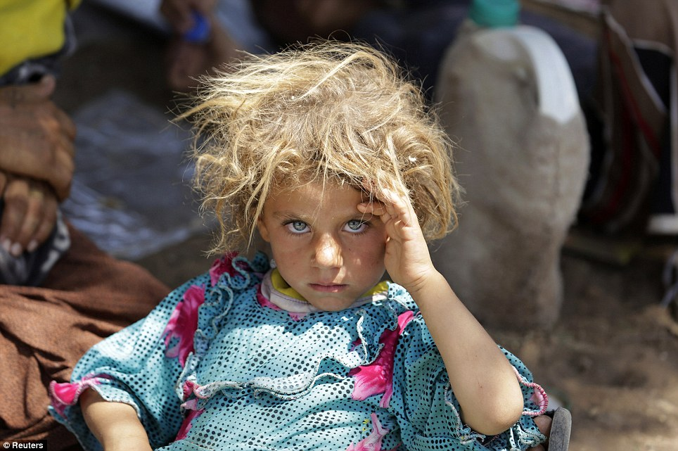 Yazidi refugee at Iraqi-Syrian border