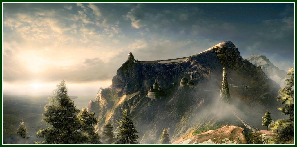 Mountain-Top-Beauty green border