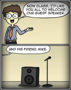 speaker mike ADJ